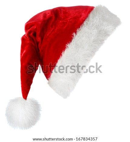Santa hat isolated on white background  - stock photo