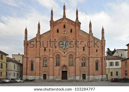 Santa Maria del Carmine church in Pavia, Italy - stock photo