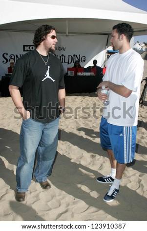 SANTA MONICA, CA - DECEMBER 02: Eric Gagne and Jordan Farmar at Kohl's Holiday Sandman Building Competition on December 02, 2006 at Santa Monica Beach, Santa Monica, CA. - stock photo