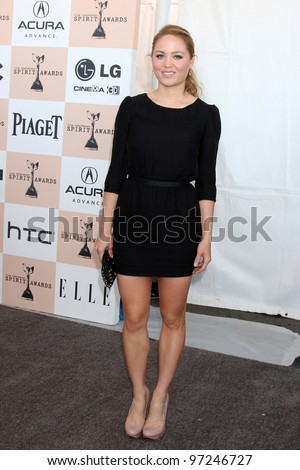 SANTA MONICA, CA - FEB 26: Erika Christensen at the 2011 Film Independent Spirit Awards at Santa Monica Beach on February 26, 2011 in Santa Monica, California - stock photo