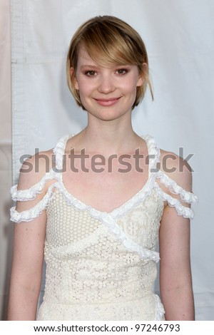 SANTA MONICA, CA - FEB 26: Mia Wasikowska at the 2011 Film Independent Spirit Awards at Santa Monica Beach on February 26, 2011 in Santa Monica, California - stock photo