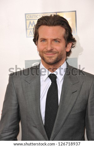 SANTA MONICA, CA - JANUARY 10, 2013: Bradley Cooper at the 18th Annual Critics' Choice Movie Awards at Barker Hanger, Santa Monica Airport. - stock photo