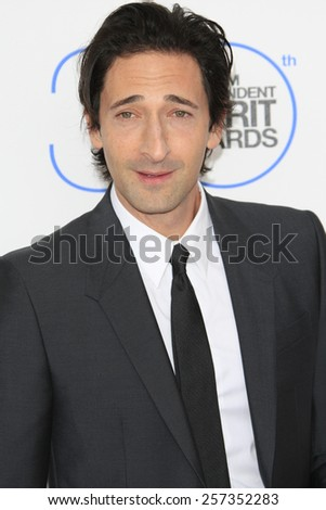 SANTA MONICA - FEB 21: Adrien Brody at the 2015 Film Independent Spirit Awards on February 21, 2015 in Santa Monica, California - stock photo