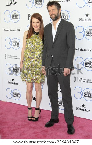 SANTA MONICA - FEB 21: Julianne Moore, Bart Freundlich at the 2015 Film Independent Spirit Awards on February 21, 2015 in Santa Monica, California - stock photo