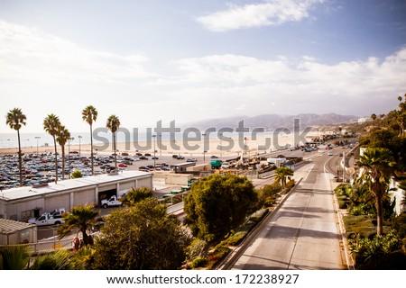 Santa Monica Highway - stock photo