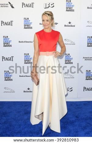 SANTA  MONICA - MAR 1: Rachel McAdams at the 2016 Film Independent Spirit Awards at Santa Monica Beach on February 27, 2016 in Santa Monica, California - stock photo