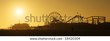 Santa Monica Pier - stock photo