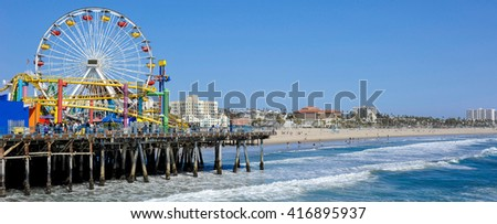 Santa Monica Pier - stock photo