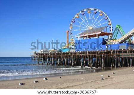 Santa Monica Pier, California - stock photo
