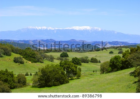 Santa Rosa Plateau in spring (California) - stock photo