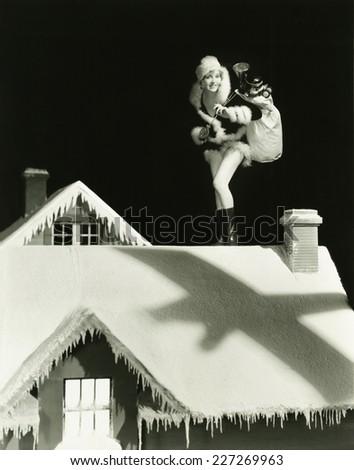 Santa's helper - stock photo
