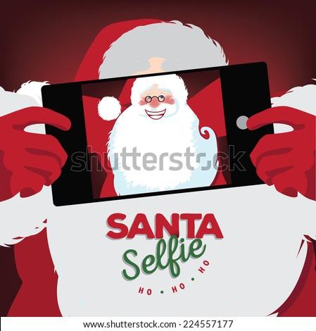 Santa selfie  - stock photo