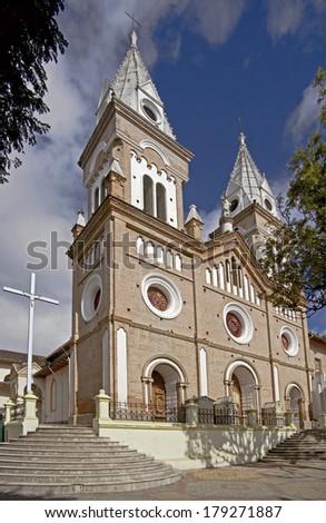 Santo Domingo church in Loja. Ecuador - stock photo
