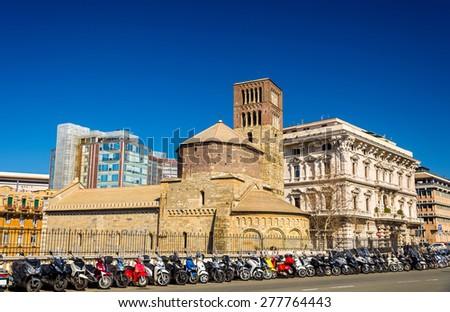 Santo Stefano church in Genoa - Italy - stock photo