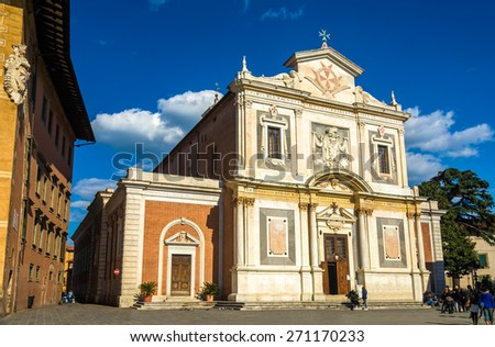 Santo Stefano dei Cavalieri church in Pisa - Italy - stock photo
