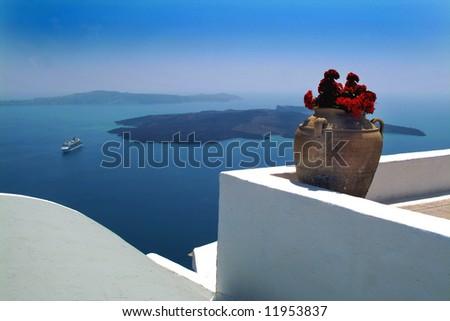Santorini Greece - stock photo