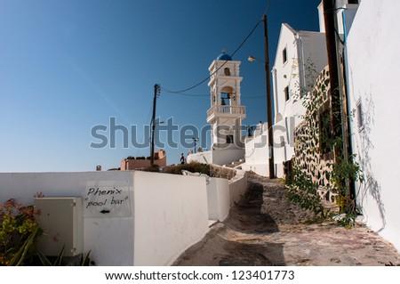 Santorini, Imerovigli - stock photo