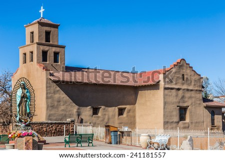 santuario de guadalupe santa fe new mexico stock photo. Black Bedroom Furniture Sets. Home Design Ideas