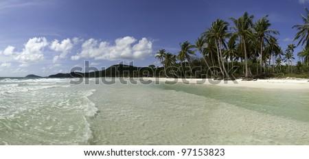 Sao Beach - Phu Quoc Island / Vietnam - stock photo