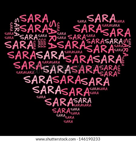 Sara name graphic Stock Photos, Images, & Pictures ...