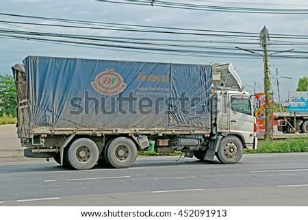 SARABURI-THAILAND-AUGUST 4 : The truck on the road, August 4, 2015 Saraburi Province, Thailand. - stock photo