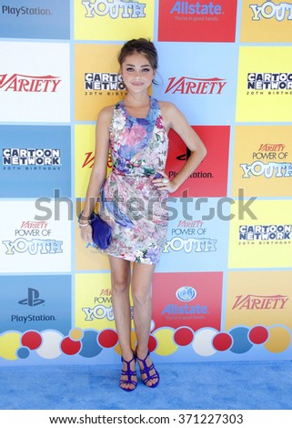 Sarah Hyland at the Variety's 6th Annual Power Of Youth held at the Paramount Studios in Los Angeles, USA on September 15, 2012. - stock photo