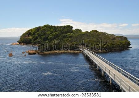 Sarah Island in Tasmania - stock photo