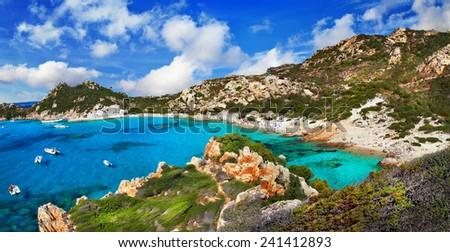 Sardinia, arhipelago la Maddalena, Italy - stock photo