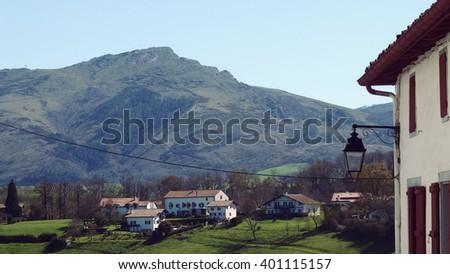 Sare Basque Country France Village - stock photo