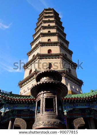 Sarira Pagoda at Mountain Resort, Chengde, China - UNESCO World Heritage Site - stock photo