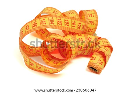 Sartorial meter isolated on a white background - stock photo