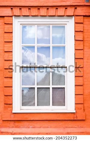 Sash window - stock photo