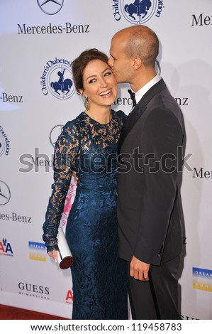 Sasha Alexander & Edoardo Ponti at the 26th Carousel of Hope Gala at the Beverly Hilton Hotel. October 20, 2012  Beverly Hills, CA Picture: Paul Smith - stock photo