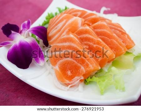 sashimi - stock photo