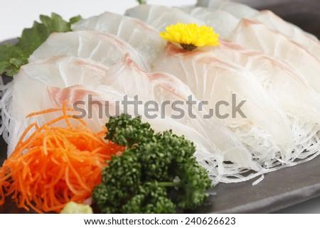 Sashimi of sea bream - stock photo