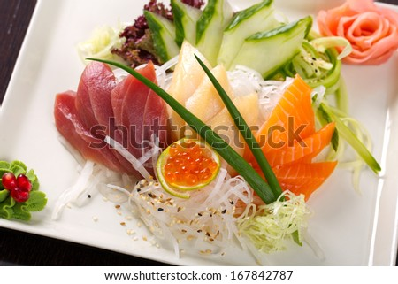 sashimi set - stock photo