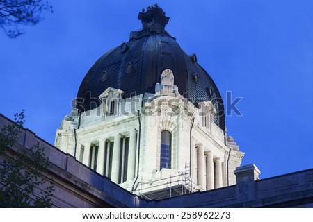 Saskatchewan Legislative Building in Regina, Saskatchewan, Canada - stock photo