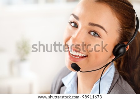 Sassy Customer service agent - stock photo