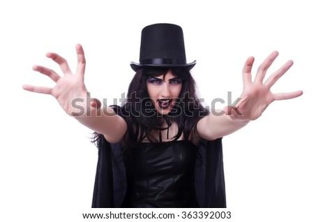 Satan halloween concept isolated on white - stock photo