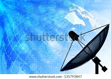 Satellite dish for Communication and technology - stock photo