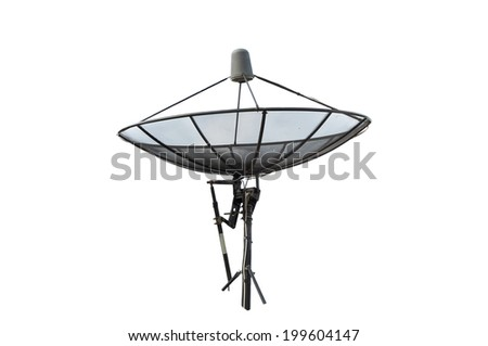Satellite dish isolate on the white background. - stock photo