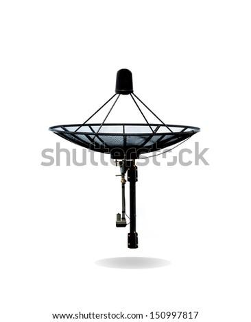 Satellite dish isolated on white background - stock photo