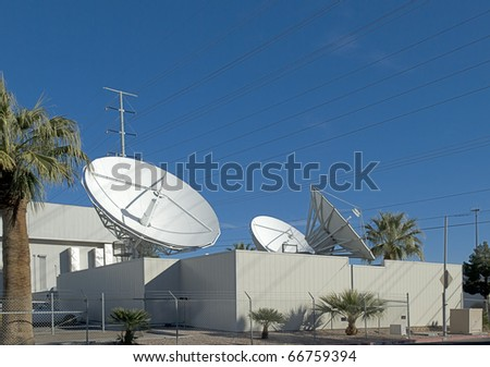 Satellite earth station - stock photo