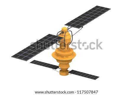 satellite  on isolated background - stock photo