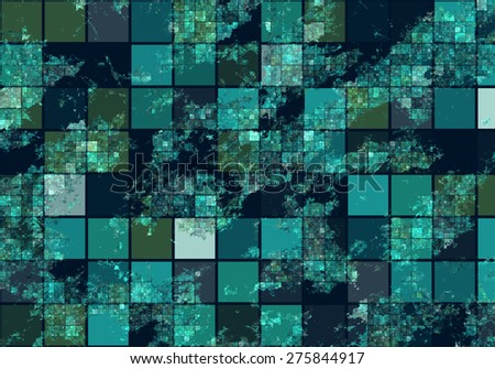 Satellite View Bitmap Illustration - stock photo
