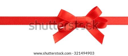 Satin ribbon isolated on white - stock photo