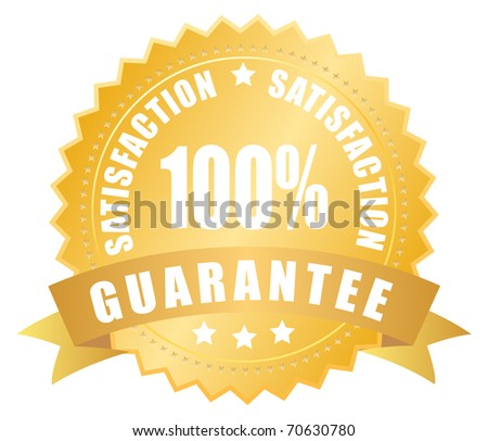 Satisfaction guarantee label - stock photo