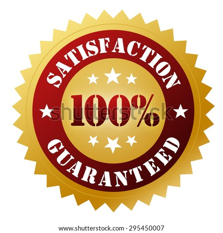 satisfaction guaranteed - stock photo