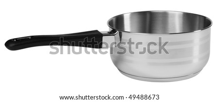 Sauce pan. Isolated - stock photo