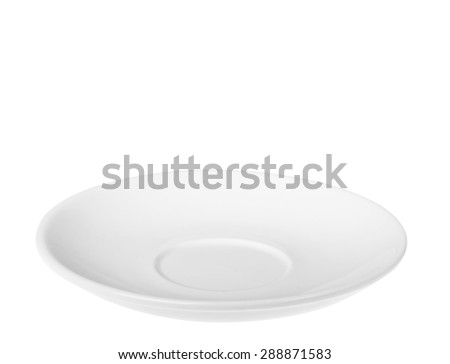 saucer isolated on a white background - stock photo